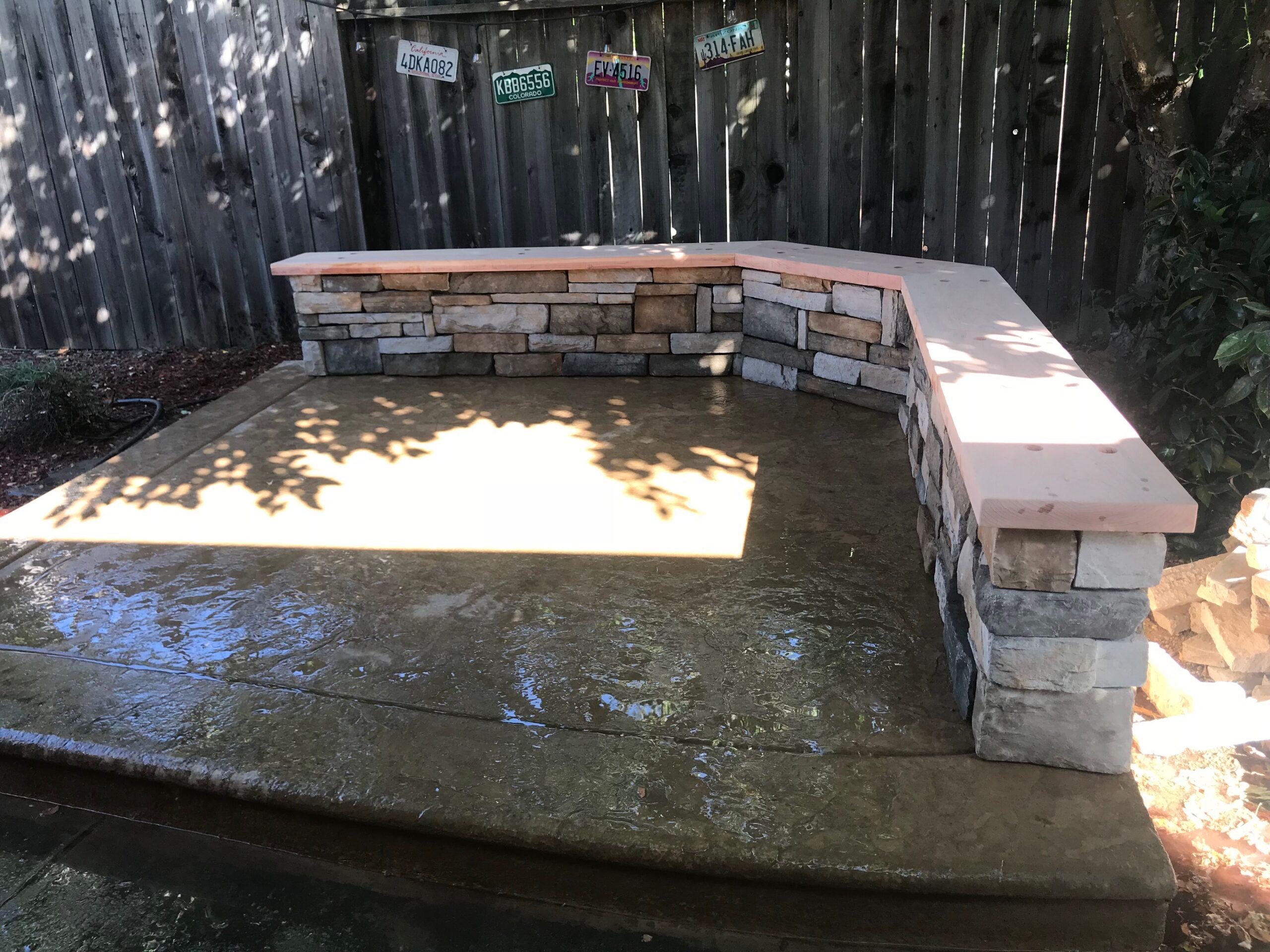 A picture of decorative concrete in Cupertino.
