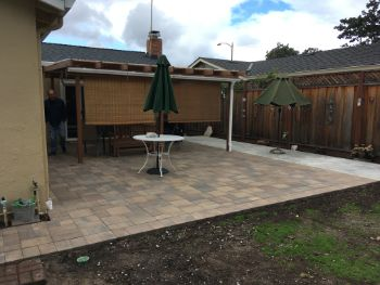 An image of stamped patio in Cupertino.