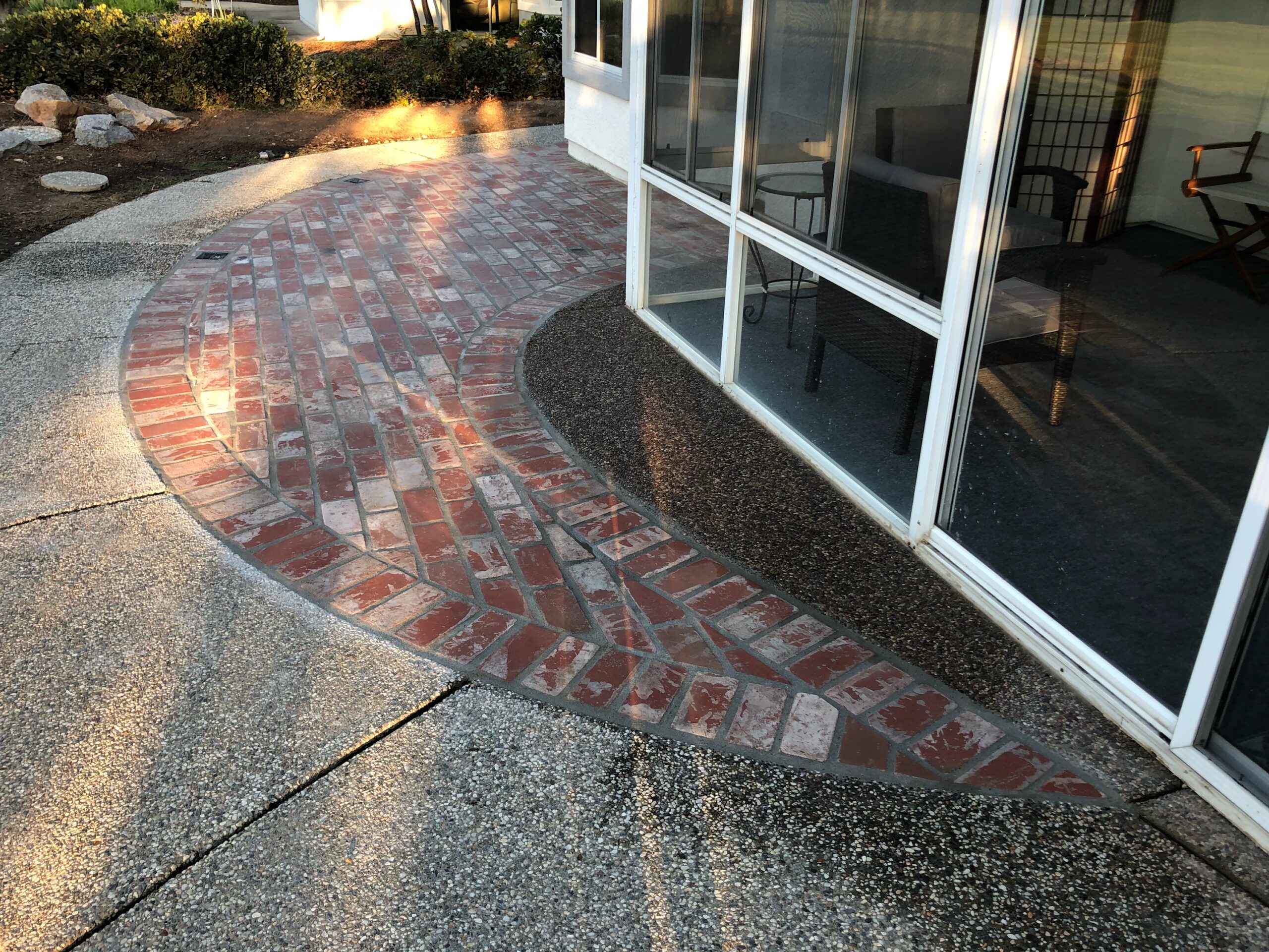 A picture of brick layer works in Cupertino.