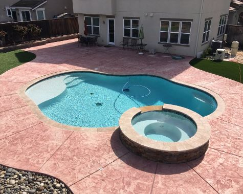 this image shows pool deck concrete in cupertino california