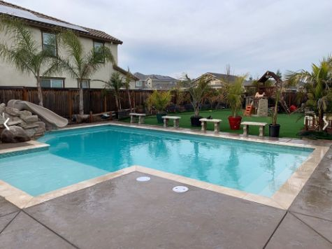 this image shows pool deck cupertino