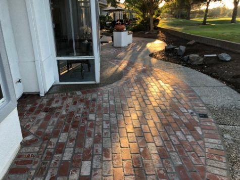 this picture shows stamped concrete patio cupertino