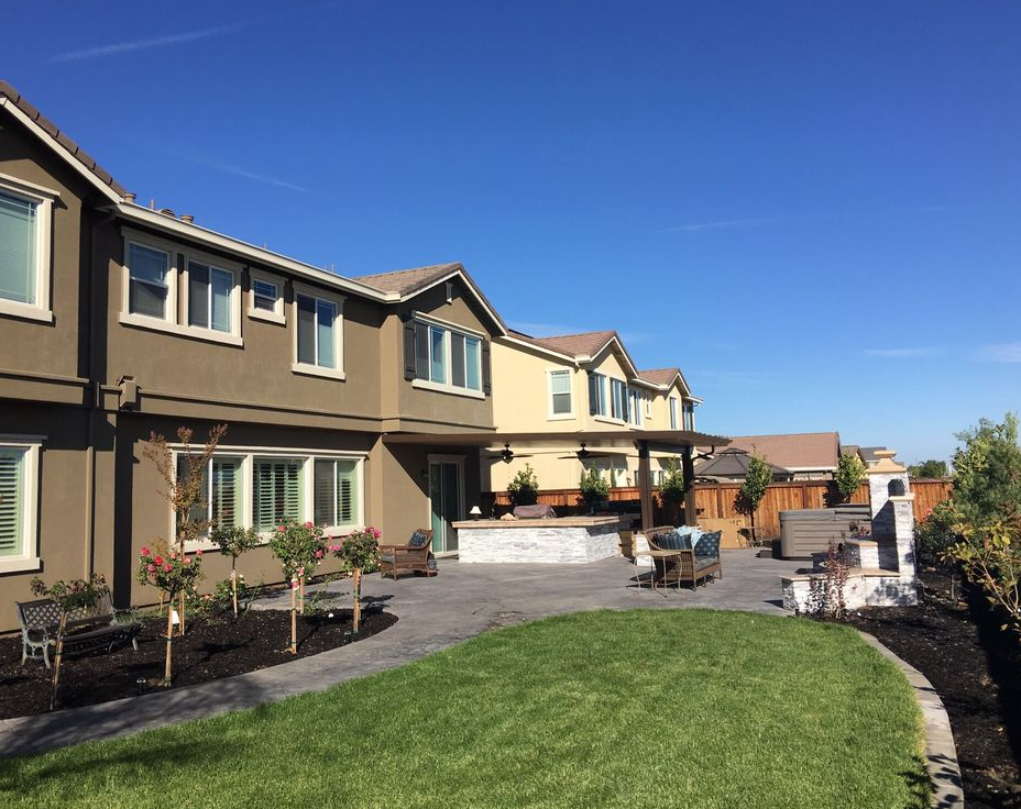 A picture of turf installation in Cupertino.