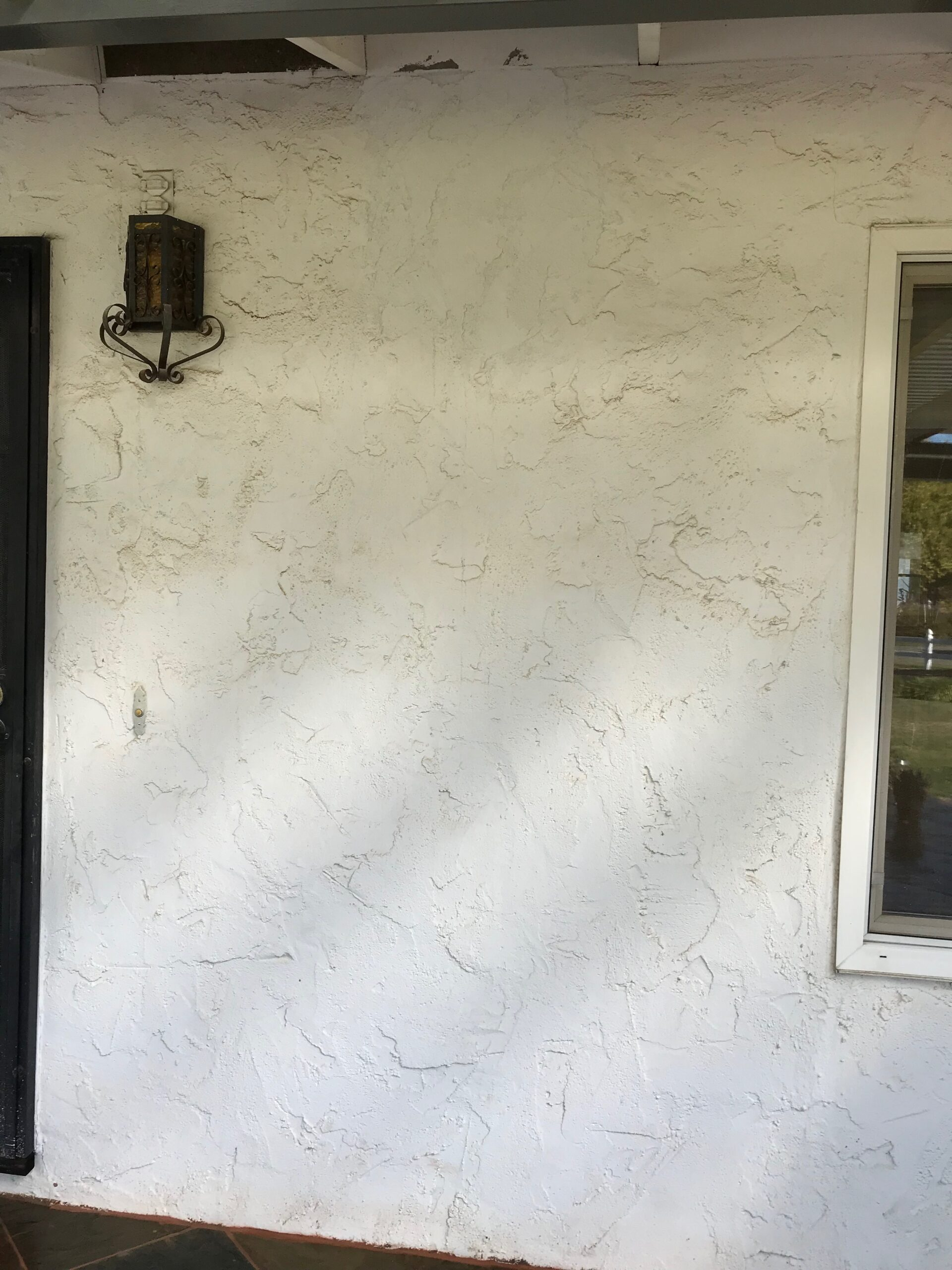 A picture of concrete wall in Cupertino.