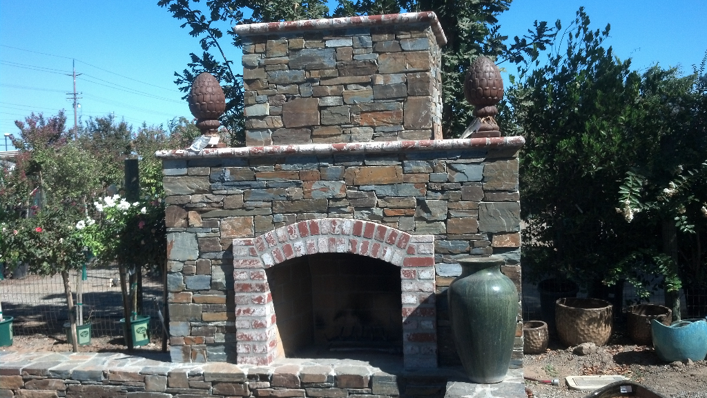 this is an image of outdoor fireplace in Cupertino