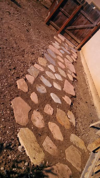 this is an image of stone pavers in Cupertino