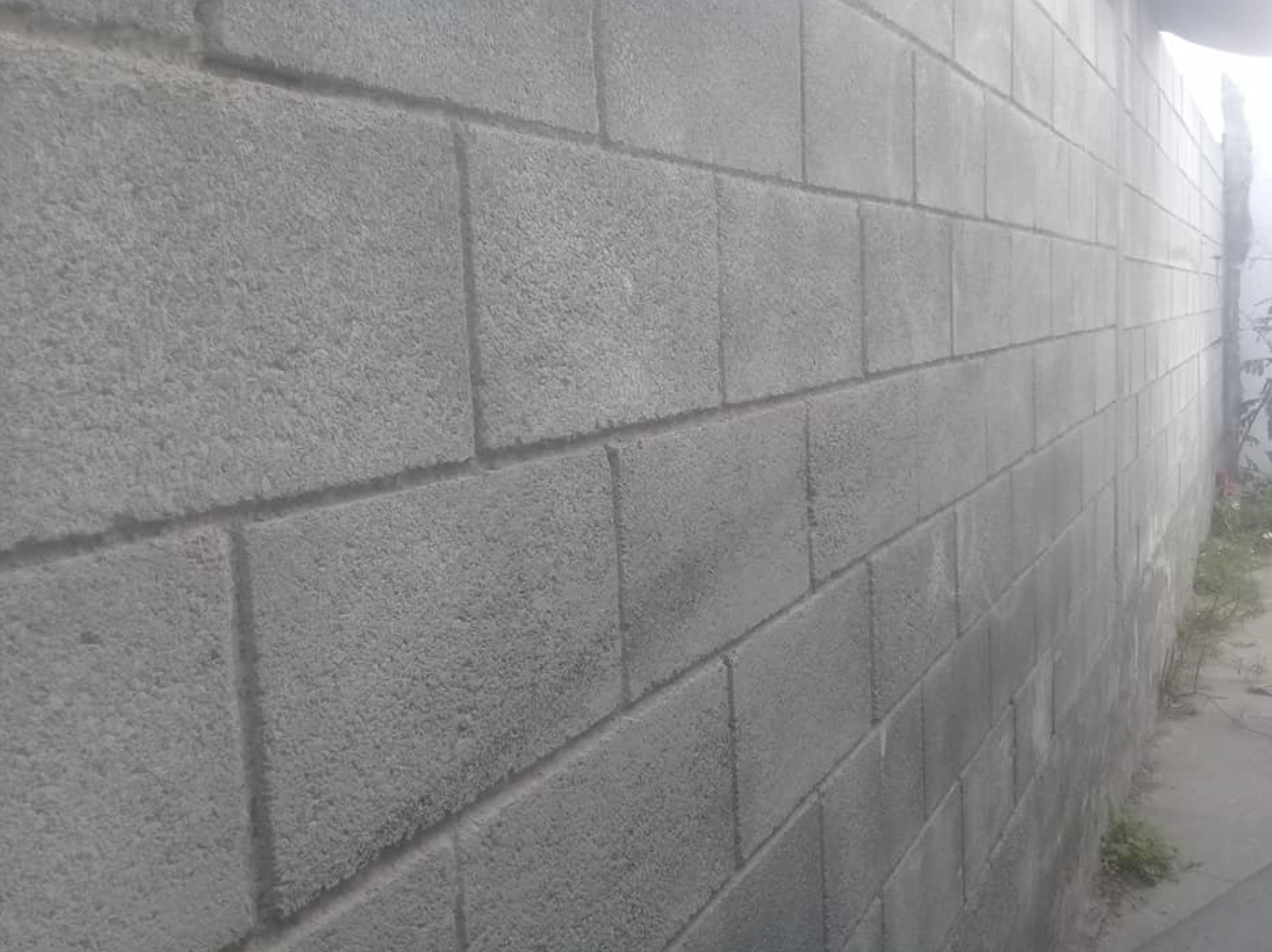 this image shows concrete wall in Cupertino, California