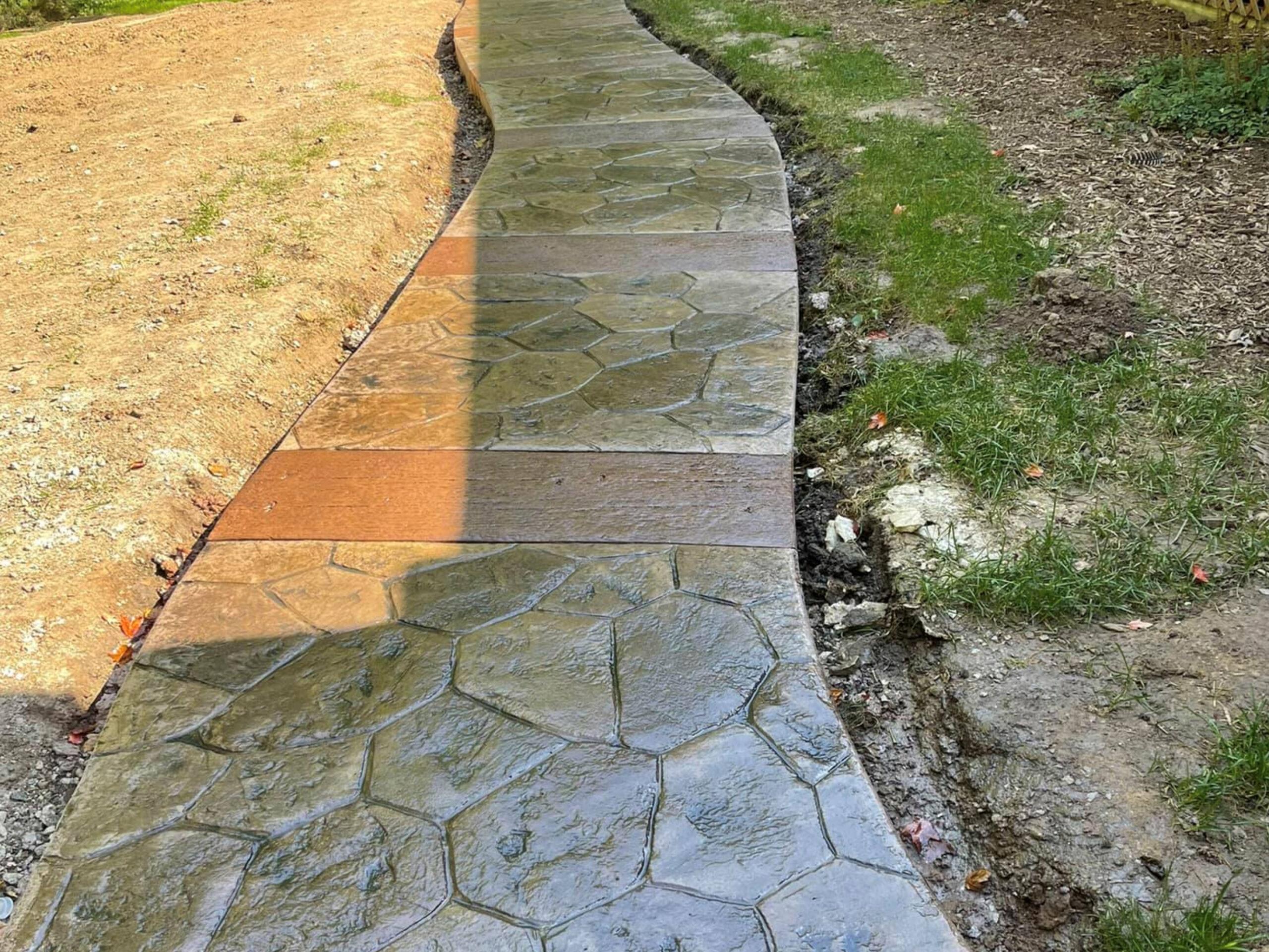 this image shows decorative concrete in Cupertino, California