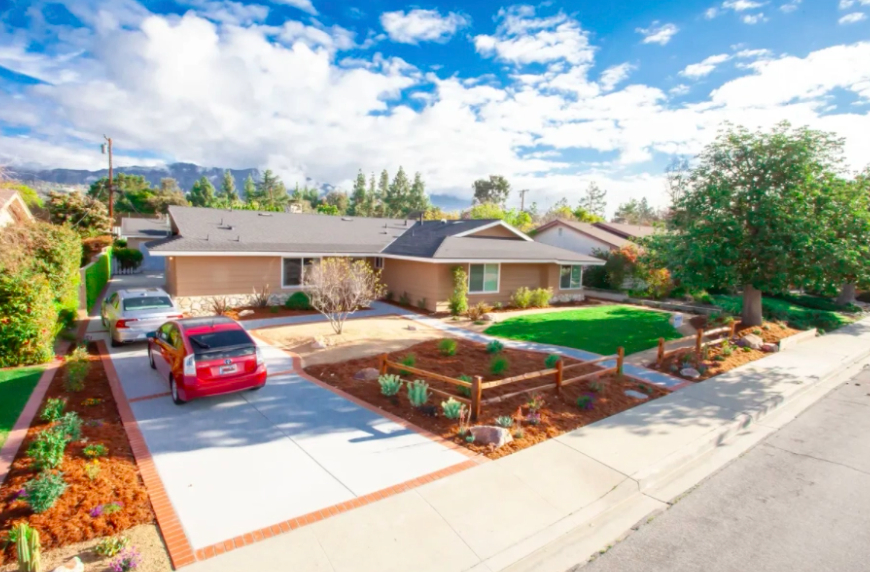 this image shows driveway installation in Cupertino, California