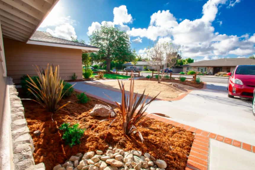 this image shows driveways in Cupertino, California
