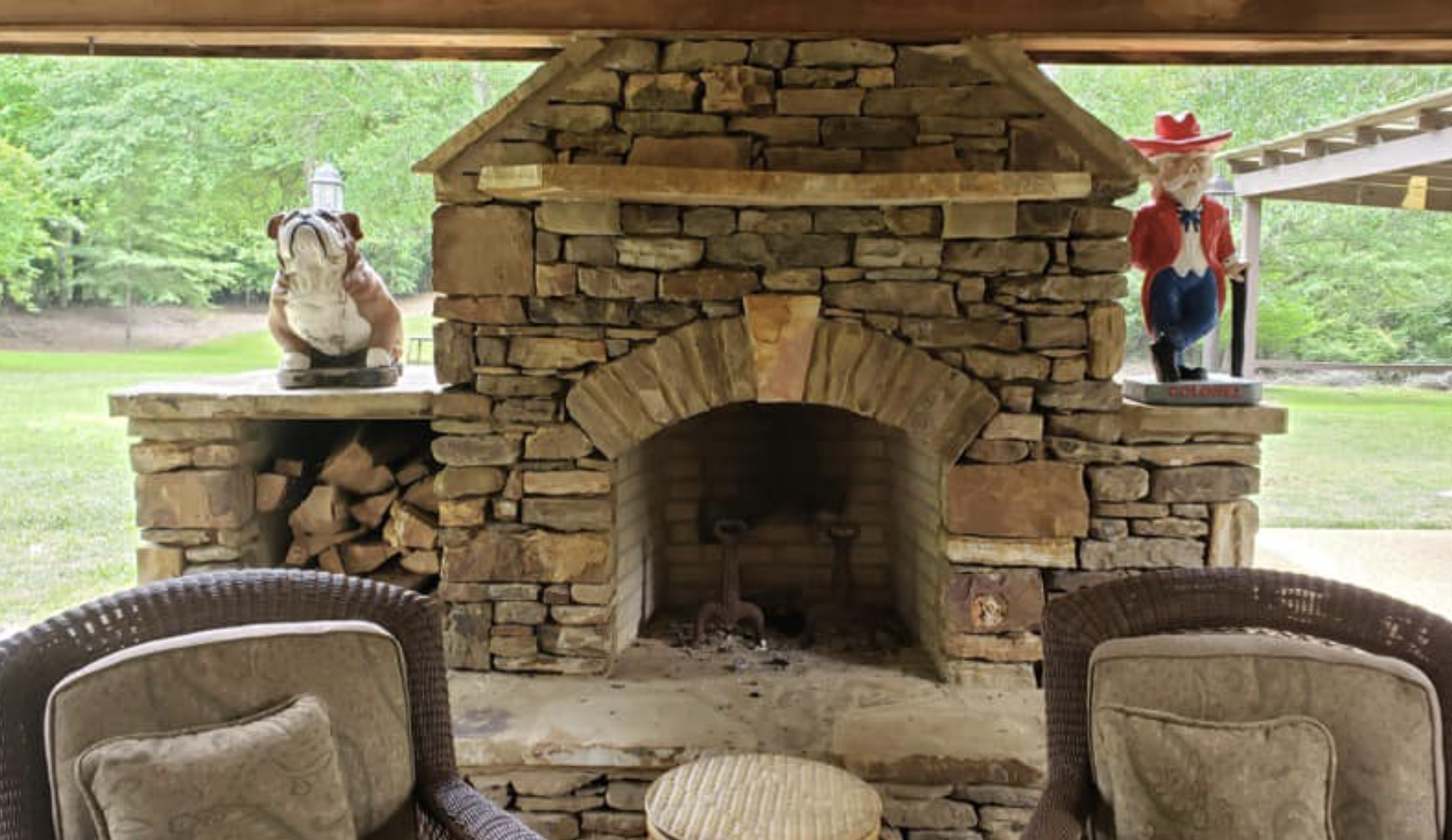 this image shows fireplace in Cupertino, California