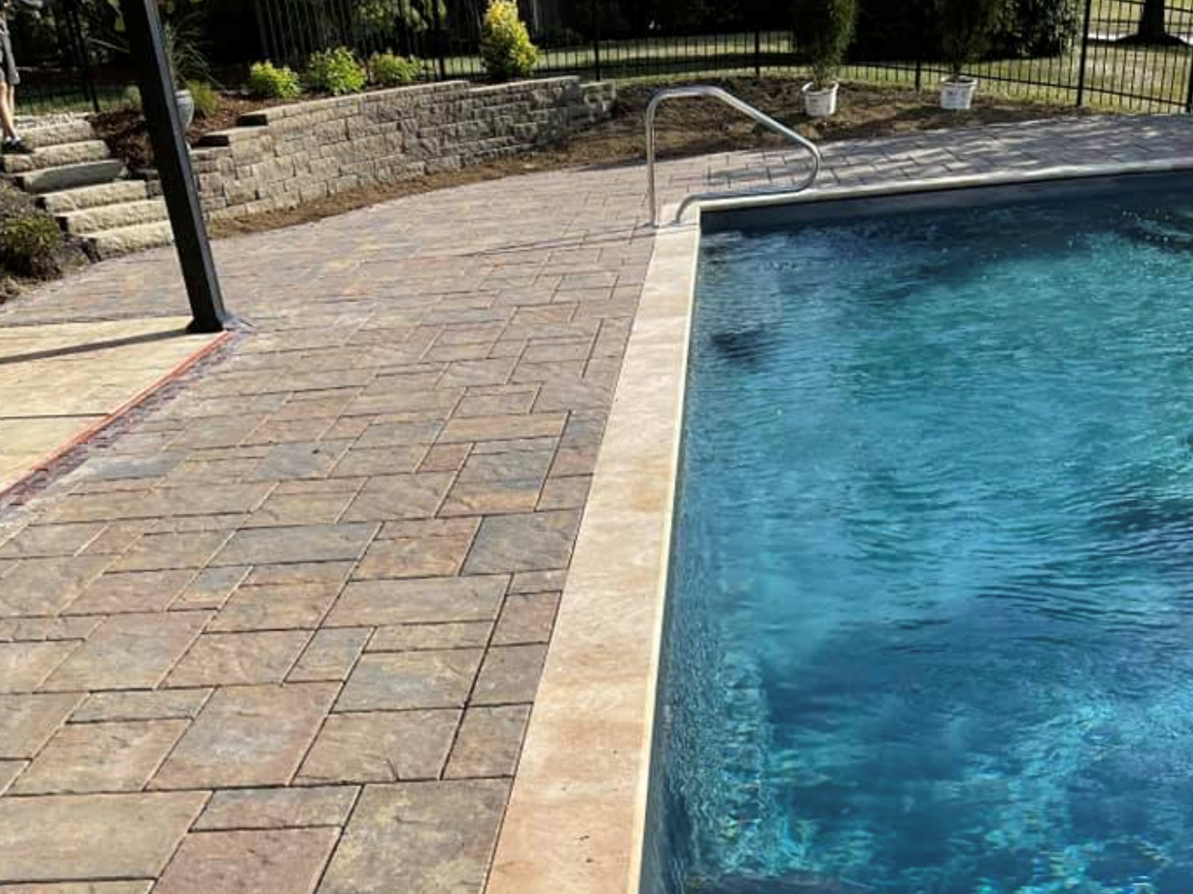 this image shows pool deck in Cupertino, California