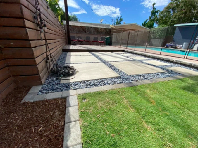 this image shows pool deck installation in Cupertino, California