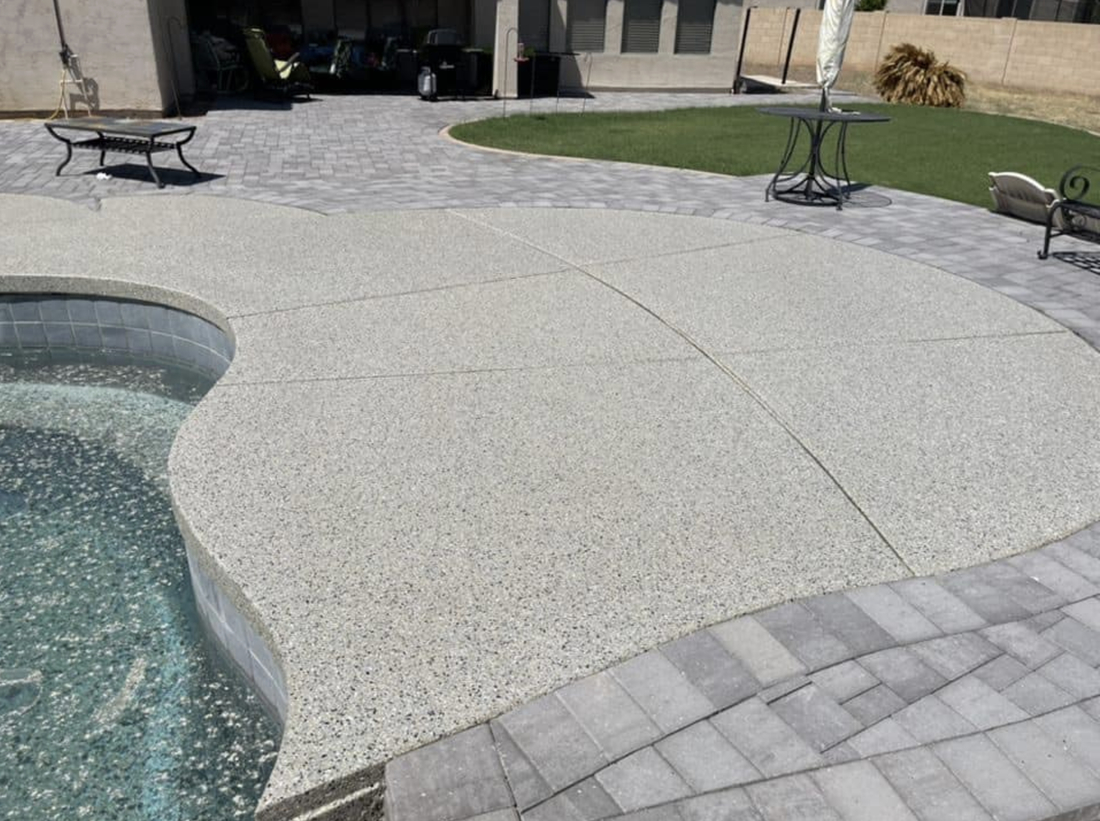 this image shows pool decks in Cupertino, California