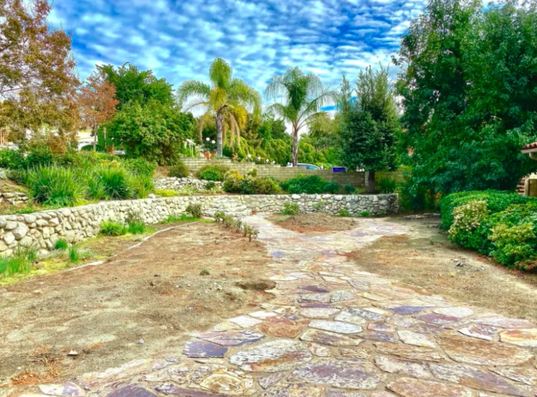this image shows stone pavers in Cupertino, California